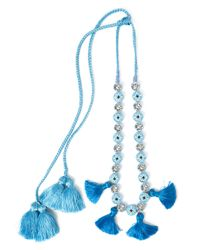 Shourouk | Blue Satoir Necklace | Lyst