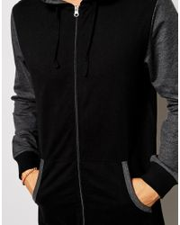 ASOS - Black Loungewear Onesie With Contrast Sleeve And Ribs for Men - Lyst