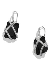 David Yurman - Cable Wrap Drop Earrings With Black Onyx And Diamonds - Lyst