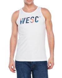 Wesc | White Maddock Tank for Men | Lyst