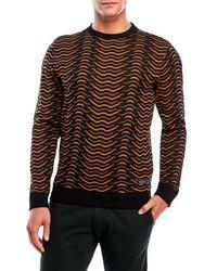 Iuter   Brown Printed Crew Neck Sweatshirt for Men   Lyst