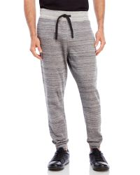 Bench | Black Space-Dye Terry Knit Sweatpants for Men | Lyst