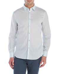 John Varvatos   Blue Luxe Paisley Sport Shirt for Men   Lyst