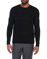 Tim Coppens | Black Structured Wool Sweater for Men | Lyst