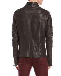 Incarnation | Black Asymmetrical Leather Jacket for Men | Lyst