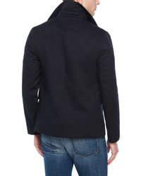 Sandro - Blue Storm Double-Breasted Peacoat for Men - Lyst
