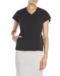 Laundry by Shelli Segal | Black Asymmetrical Moto Jacket | Lyst