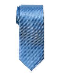 Geoffrey Beene | Blue Solid Bias Rib Tie for Men | Lyst