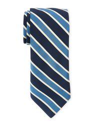 Todd Snyder | Blue Contrast Stripe Tie for Men | Lyst