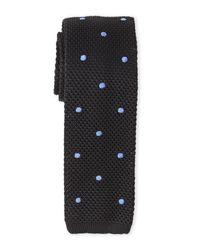 Burma Bibas | Black Dotted Textured Knit Tie for Men | Lyst