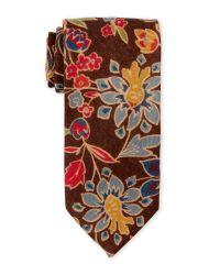 Altea - Brown Retro Floral Tie for Men - Lyst