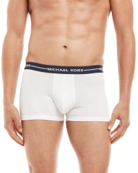 Michael Kors | White 3-Pack Ultimate Cotton Stretch Trunks for Men | Lyst