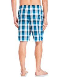 Calvin Klein - Blue Woven Pajama Shorts for Men - Lyst