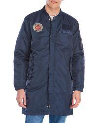 Wesc   Blue Long Patch Coat for Men   Lyst