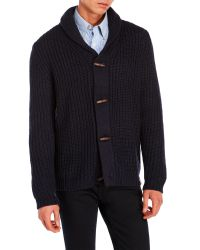 Weatherproof | Blue Chunky Knit Toggle Sweater for Men | Lyst