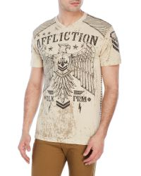 Affliction | Natural Disjointed Tee for Men | Lyst