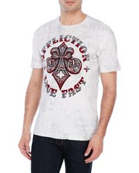Affliction | White Live Fast Tee for Men | Lyst