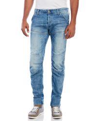G-Star RAW - Blue Gstar Raw New Riley 3d Mens Slim Jeans for Men - Lyst