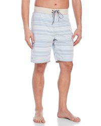 Tailor Vintage | Blue Sky Stripe Reversible Board Shorts for Men | Lyst