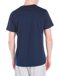 Adidas Originals - Blue Logo Tennis T-Shirt for Men - Lyst
