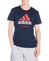 Adidas Originals | Blue Logo Tennis T-Shirt for Men | Lyst