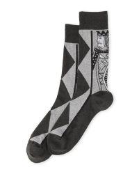 Hot Sox | Gray King Of Diamonds Socks for Men | Lyst