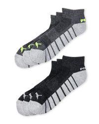 PUMA - Gray 6-Pack Quarter Crew Socks for Men - Lyst