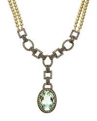 Heidi Daus - Multicolor Open Link Drop Necklace - Lyst