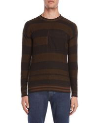 Imperial - Brown Striped Pocket Sweater for Men - Lyst