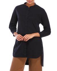 Hache - Black Hi-Low Cotton Tunic - Lyst