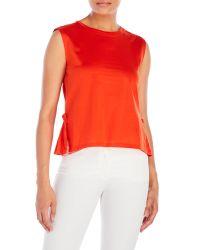 Dorothee Schumacher | Orange Radical Ruffles Peplum Top | Lyst