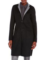 Tony Cohen - Black Wool-Blend Coat - Lyst