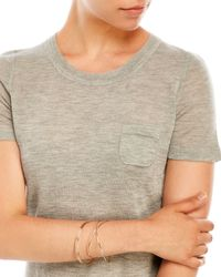 Elie Tahari - Gray Slone Short Sleeve Cashmere Sweater - Lyst