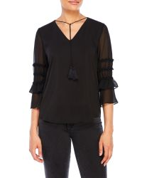T Tahari - Black Theresa Blouse - Lyst