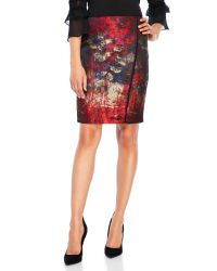 T Tahari | Red Andrea Skirt | Lyst