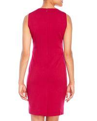 T Tahari - Red Christy Sheath Dress - Lyst