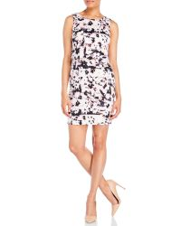 Ivanka Trump   White Floral Popover Sheath Dress   Lyst