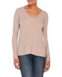 VINCE | Pink Vee Pullover Sweater | Lyst