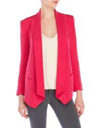 Rebecca Minkoff | Pink Silk Becky Jacket | Lyst