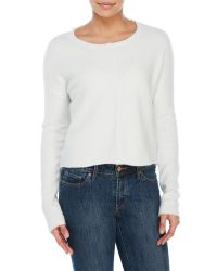 John + Jenn   White Dahlia Long Sleeve Sweater   Lyst