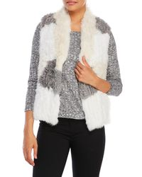 Love Token | Gray Jane Real Fur Patchwork Vest | Lyst