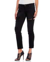 Eunina - Black Sasha Low-Rise Relaxed Skinny Crop Jeans - Lyst