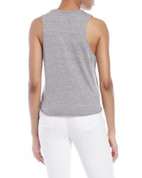 Chaser - Gray Usa Front-Tie Tank - Lyst