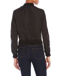 Romeo and Juliet Couture | Black Bomber Jacket | Lyst