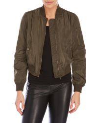 Romeo and Juliet Couture | Green Bomber Jacket | Lyst