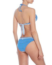 Moschino - Blue Striped Push-Up Bikini Set - Lyst
