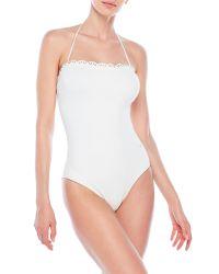 Chloé   White Halter Tie One-Piece Swimsuit   Lyst