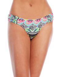 OndadeMar - Blue Zenega Ruched Side Bikini Bottom - Lyst