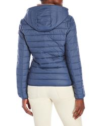 Save The Duck | Blue Pocketable Hooded Jacket | Lyst
