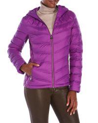 MICHAEL Michael Kors   Purple Hooded Packable Down Jacket   Lyst